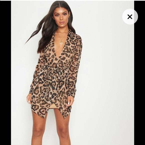 Leopard Print Wrap Detail Shirt Dress 4abb347fc